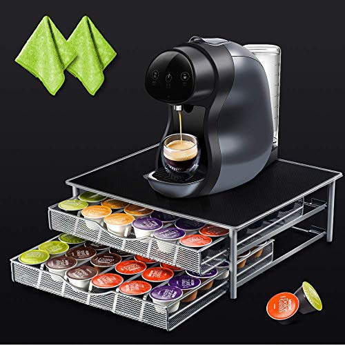 2-Tier Coffee Pod Storage Drawer with 2pcs Cleaning, used for sale  Delivered anywhere in USA