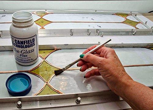 150pc ALAZCO 6'' Long 3/8'' Acid Brushes Natural Flexible Horsehair Bristles - Tin (Metal) Tubular Handles & Ferrules Home School Work Shop Garage by ALAZCO (Image #5)