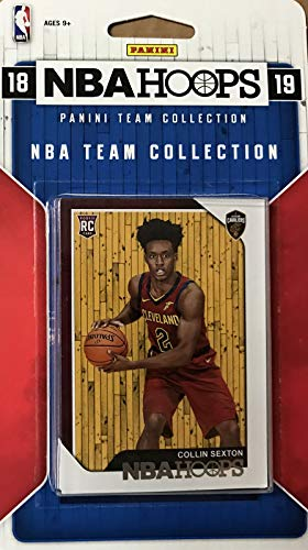 Set Team Basketball Card (Cleveland Cavaliers 2018 2019 Hoops NBA Basketball Factory Sealed 7 Card Team Set with Collin Sexton Rookie Card and Kevin Love Plus)