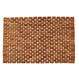 Teak Bath Floor Shower Mat - Solid OR Foldable - Indoor/Outdoor Anti-Slip - Hand Made Eco Friendly Premium Teak Wood - Luxury Shower Spa Mat by Maxtir (Natural Teak Foldable Mat, 27.5'' x 20'' x 0.25'')