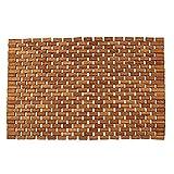 Teak Bath Floor Shower Mat - Solid OR Foldable - Indoor/Outdoor Anti-Slip - Hand Made Eco Friendly Premium Teak Wood - Luxury Shower Spa Mat by Maxtir (Natural Teak Foldable Mat, 27.5'' x 20'' x 0.25'')