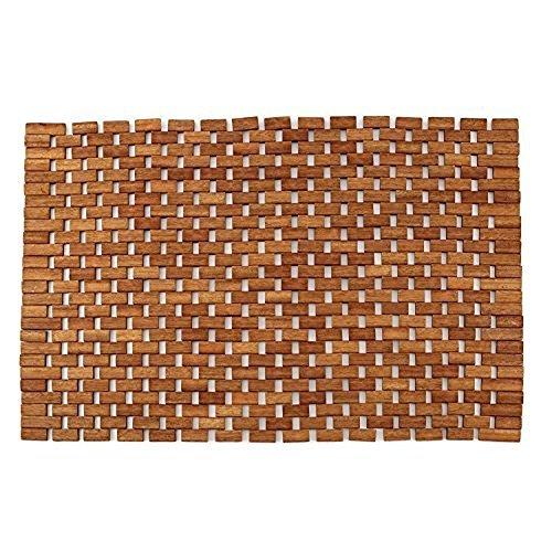 Teak Bath Floor Shower Mat - Solid OR Foldable - Indoor/Outdoor Anti-Slip - Hand Made Eco Friendly Premium Teak Wood - Luxury Shower Spa Mat by Maxtir (Natural Teak Foldable Mat, 27.5'' x 20'' x 0.25'') by Maximum Stores® (Image #1)