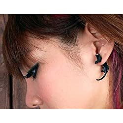 Outtop Cat Gothic Earrings for Women Men (Black)