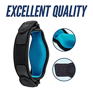 Elbow Brace With Compression Pad - Pack Of 2 - Tennis Elbow Brace Golf Elbow Brace - Great Support For Injured Arms Pain Relief - Forearm Sweatband - Bonus E-Book – Just Comfort