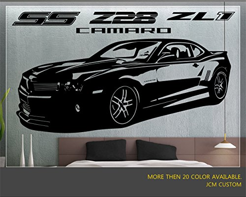 JCM Custom Camaro SS, Z28, ZL1 Sport Car Removable Wall Vinyl Decal Stickers 50