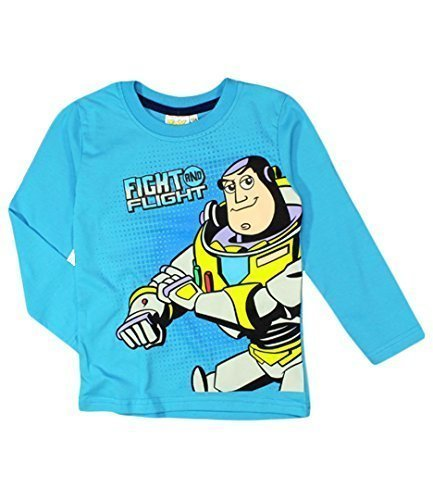 Disney Toy Story Buzz Kampf und Flight Kinder Oberteil T-Shirt blau - Blau, 100% baumwolle\n\t\t\t\t, 122cm, 6-7 years