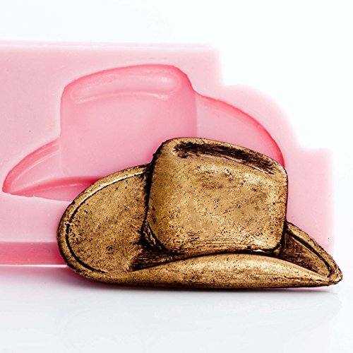 Cowboy Hat Silicone Mold Make Your Own Western Chocolate, Fondant, Resin, Clay.. Mold creates hat the perfect size jewelry and more.
