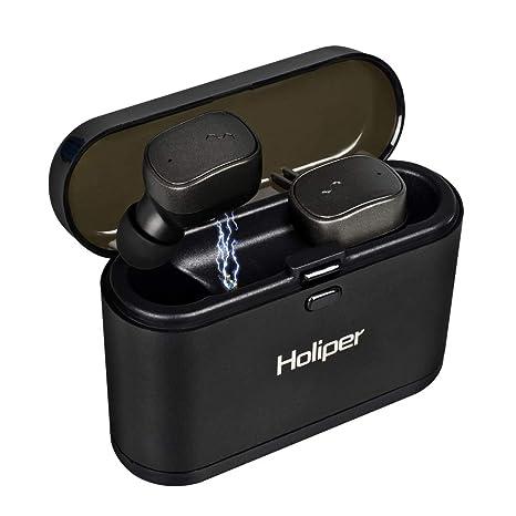 Auriculares Inalámbricos, Holiper Bluetooth Audífonos V5.0 Verdaderos Inalámbricos en Oído, Batería de