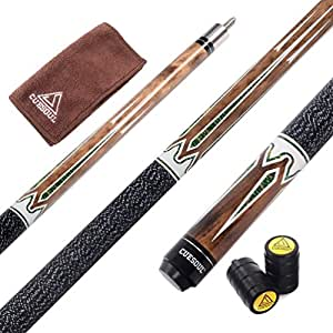 CUESOUL Billiards 58-Inch 19 Oz Canadian Maple Pool Cue Billiard Stick with Joint Protector 11.5mm Glue on Tip TB01-11.5mm tip