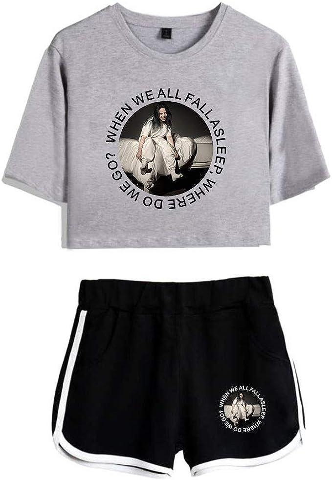 Billie Eilish Sport T Shirt Shorts Sport T Shirts Und Shorts Die Fur Musikfans Geeignet Sind Unterstutzen Das Joggen Von Yoga Fitness Kleidung Amazon De Bekleidung