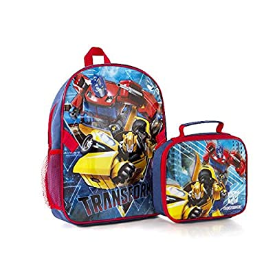 "Econo 2PC Set - Transformers Kids 15"" Backpack with Lunch Bag 