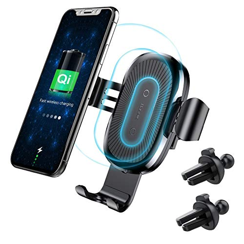 Wireless Car Charger Mount, Baseus Gravity Car Mount Air Vent Phone Holder, 10W Charge for Samsung Galaxy S8 S7/S7 Edge, Note 8 5, Standard Charge for iPhone X, 8/8 Plus and Qi Enabled Devices by Baseus