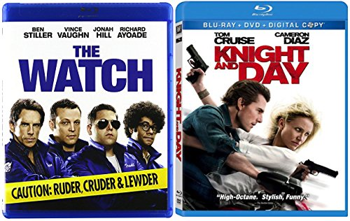 Knight and Day + The Watch Blu Ray Fun Action Comedy movie Set Combo Edition