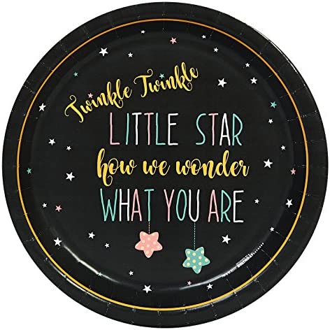 Twinkle Twinkle How We Wonder Party 23cm Dinner Plates Pack (24)