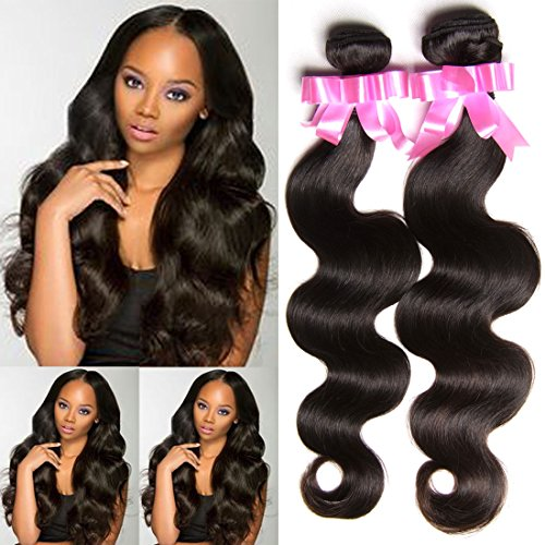 Brazilian virgin hair body wave 16 18 18 inches Grade 7a top quality virgin human hair extensions natural color weave bundles good quality (16 18 18)