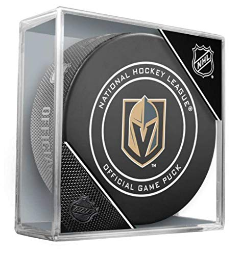 NHL Las Vegas Golden Knights Official Game Hockey Puck with Holder