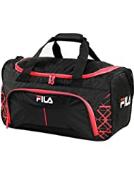 Fila Fastpace Small Sports Duffel Gym Bag, Black/Red, One Size