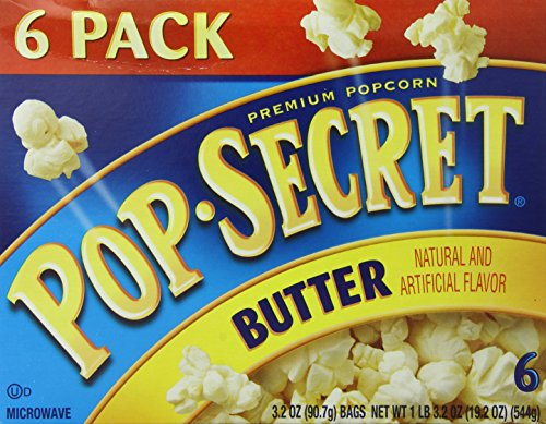 Pop-Secret Popcorn, Butter, 3.2oz, 6-Count