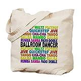 CafePress - Ballroom Words - Natural Canvas Tote Bag, Cloth Shopping Bag