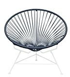 Innit Designs Innit Chair, Grey Weave on White Frame