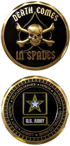 United States Military US Armed Forces Army Star Logo w/ Skull & Black Spade