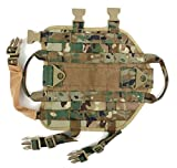 MD Group Dog Harness Outdoor Military Dog Clothes Training Molle Army Tactical Hunting Vest
