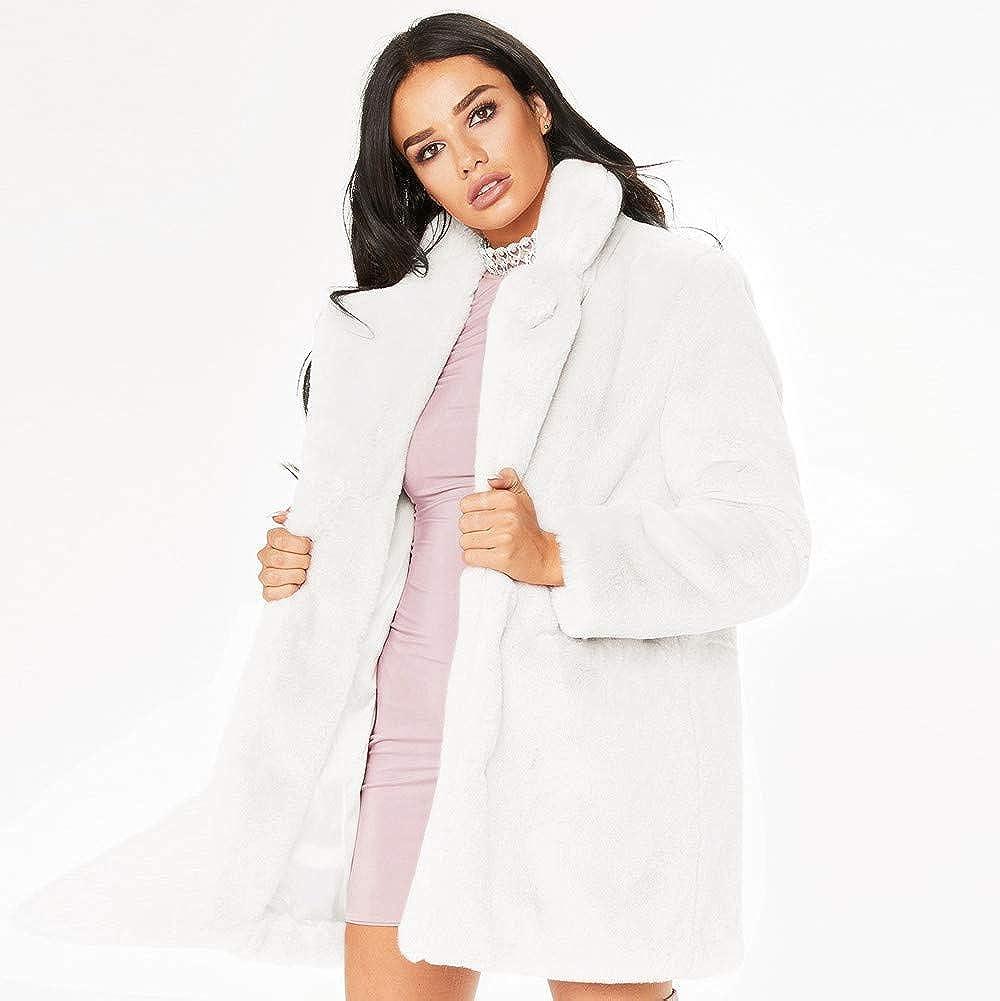 Faux Fur,Winter Lady Womens Warm Long Faux Fur Coat Jacket Parka Outerwear