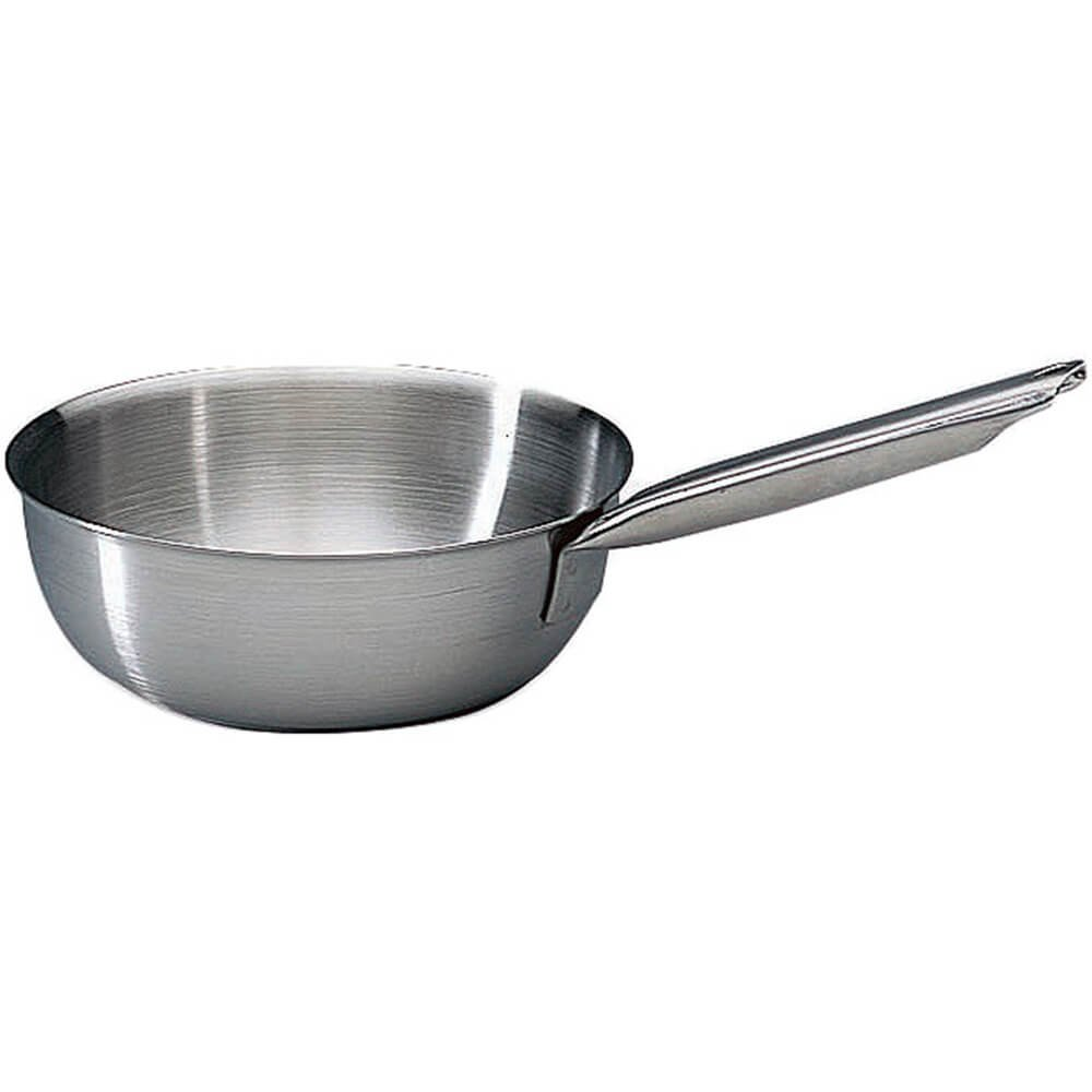Matfer Bourgeat Stainless Steel Tradition Saucier Pan Without Lid, 9.5'' 686524