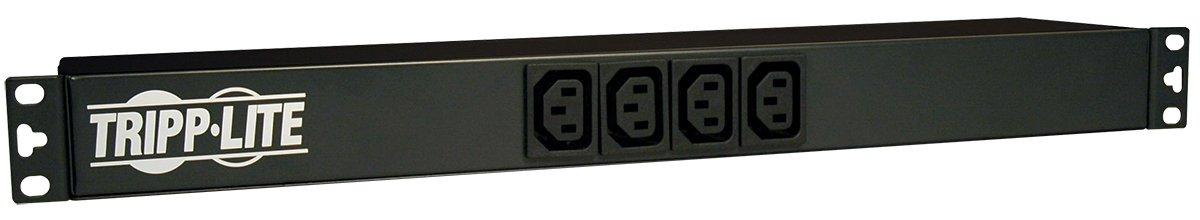 Tripp Lite Basic PDU, 16A, 14 Outlets (12-C13 & 2-C19), 100-240V, C20, C14/L6-20P/L5-20P/5-20P/5-15P, 1U Rack-Mount Power (PDUNV)