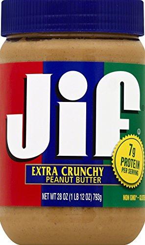 Jif Extra Crunchy Peanut Butter, 28 Ounce