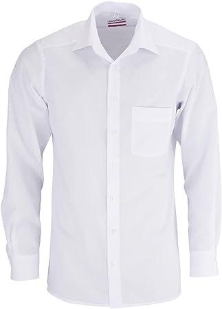 Camisa de ajuste moderno de Marvelis, manga extra larga con 69 cm de longitud de mangas con cuello N