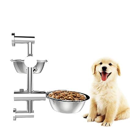 Amazon.com: XDYFF - Comedero para mascotas, cuenco de acero ...