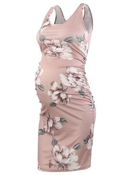 0c8036d916553 Pinkydot Women s Maternity Sleeveless Dresses Maternity Tank Dress Mama  Scoop Neck Baby Shower Pregnancy Dress