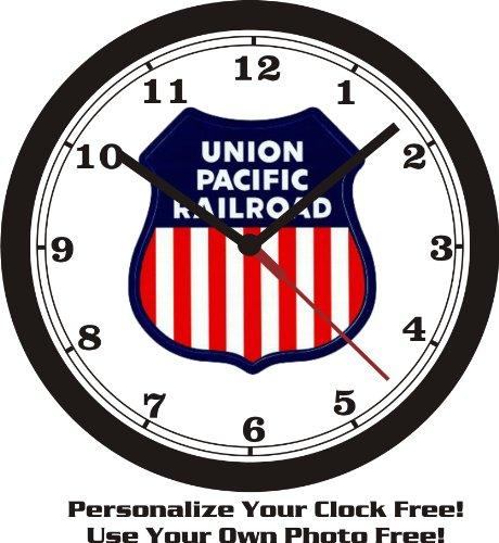 union-pacific-railroad-emblem-wall-clock-free-usa-ship