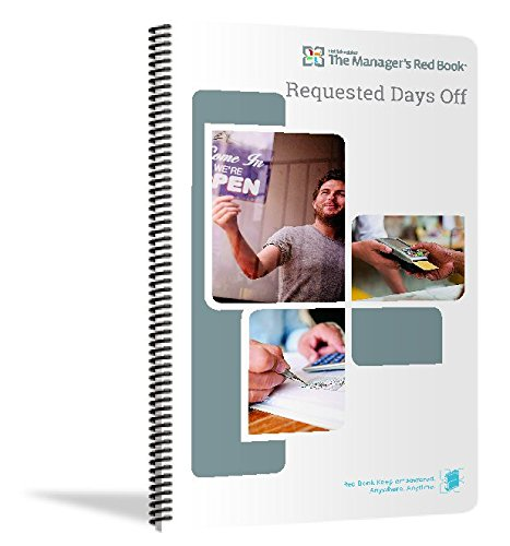 The Manager's Red Book - Request Days Off logbook/Notebook/Planner, 8.5