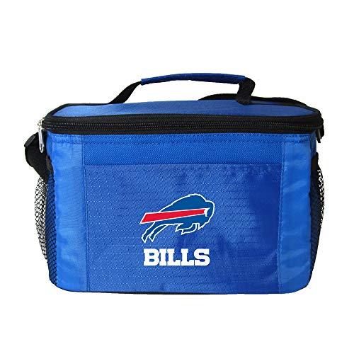 NFL Buffalo Bills Insulated Lunch Cooler Bag with Zipper Closure, Navy