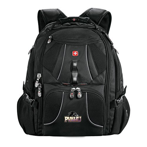 Prairie View A&M Wenger Swiss Army Mega Black Compu Backpack 'Official Logo' by CollegeFanGear