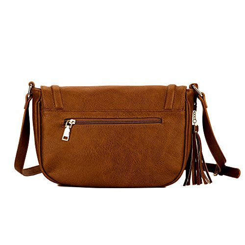 Saddle bags with Large Bag Shoulder Tassel women Crossbody small Bags Brown t1AtYw