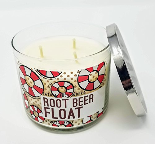 Bath and Body Works White Barn Root Beer Float 3 Wick Candle 14.5 Ounce