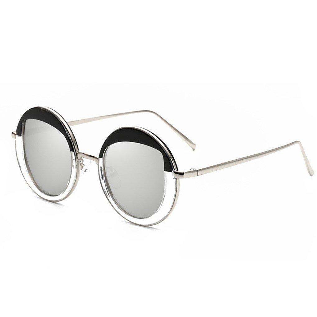 M-Egal Women Vintage Round Personalized Sunglasses Metal Frame Eyewear NO.5