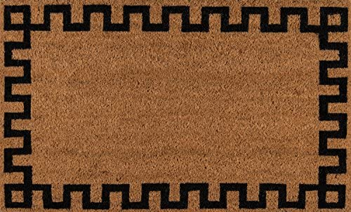 Erin Gates by Momeni Park Greek Key Natural Hand Woven Natural Coir Doormat 1 6 X 2 6