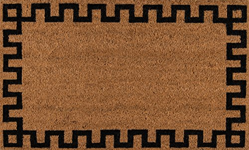 - Erin Gates by Momeni Park Greek Key Natural Hand Woven Natural Coir Doormat 1'6