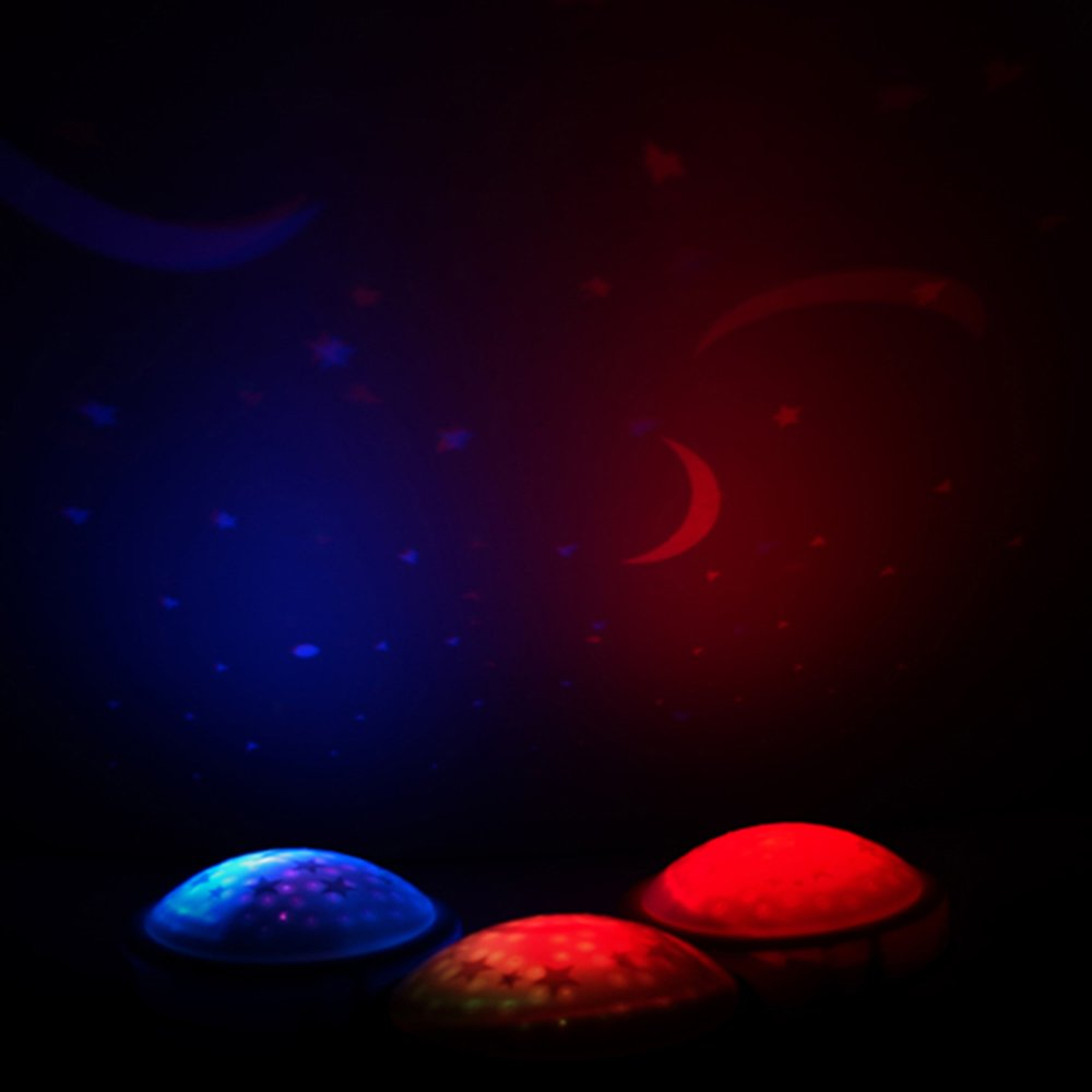 Amazon.com: Luz LED para grifo de estrella, proyecta luna y ...