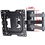 "VideoSecu 24"" Long Arm TV Wall Mount Low Profile Articulating Full Motion Cantilever Swing Tilt wall bracket for most 22"" to 55"" LED LCD TV Monitor Flat Screen VESA 200x200 400x400 up to 600x400mm MAH"