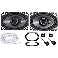 Kicker CSC 4X6 Front Factory Speaker + Wire For 1997-2002 Jeep Wrangler Tj