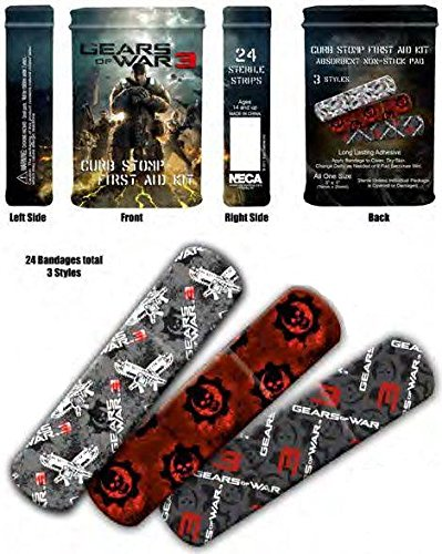 Gears of War 3 - 24 Sterile Bandage Set Band Aids in Collector's Tin!