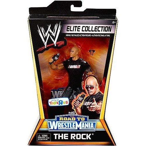 Mattel WWE Wrestling Exclusive Elite Collection Road to WrestleMania Action Figure The Rock toy [parallel import goods]
