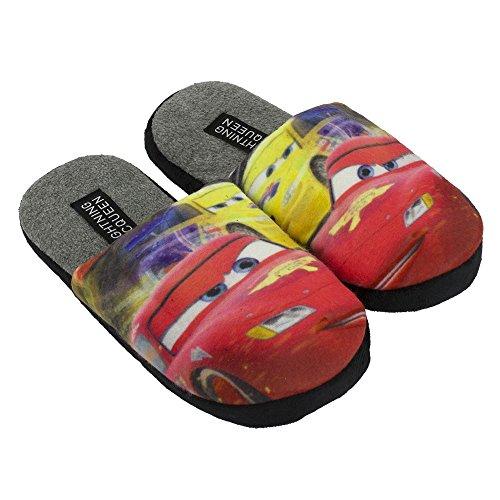 Disney - Zapatillas de estar por casa de Terciopelo para niño Rojo rojo 29 gris