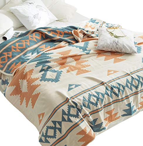 Boho Geometric Cozy Reversible Bed Blanket, Full/Queen 78