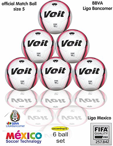 6 Voit official Match soccer ball set (size 5) by Voit